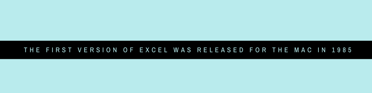 DID YOU KNOW The first version of Excel was released for the Mac in 1985