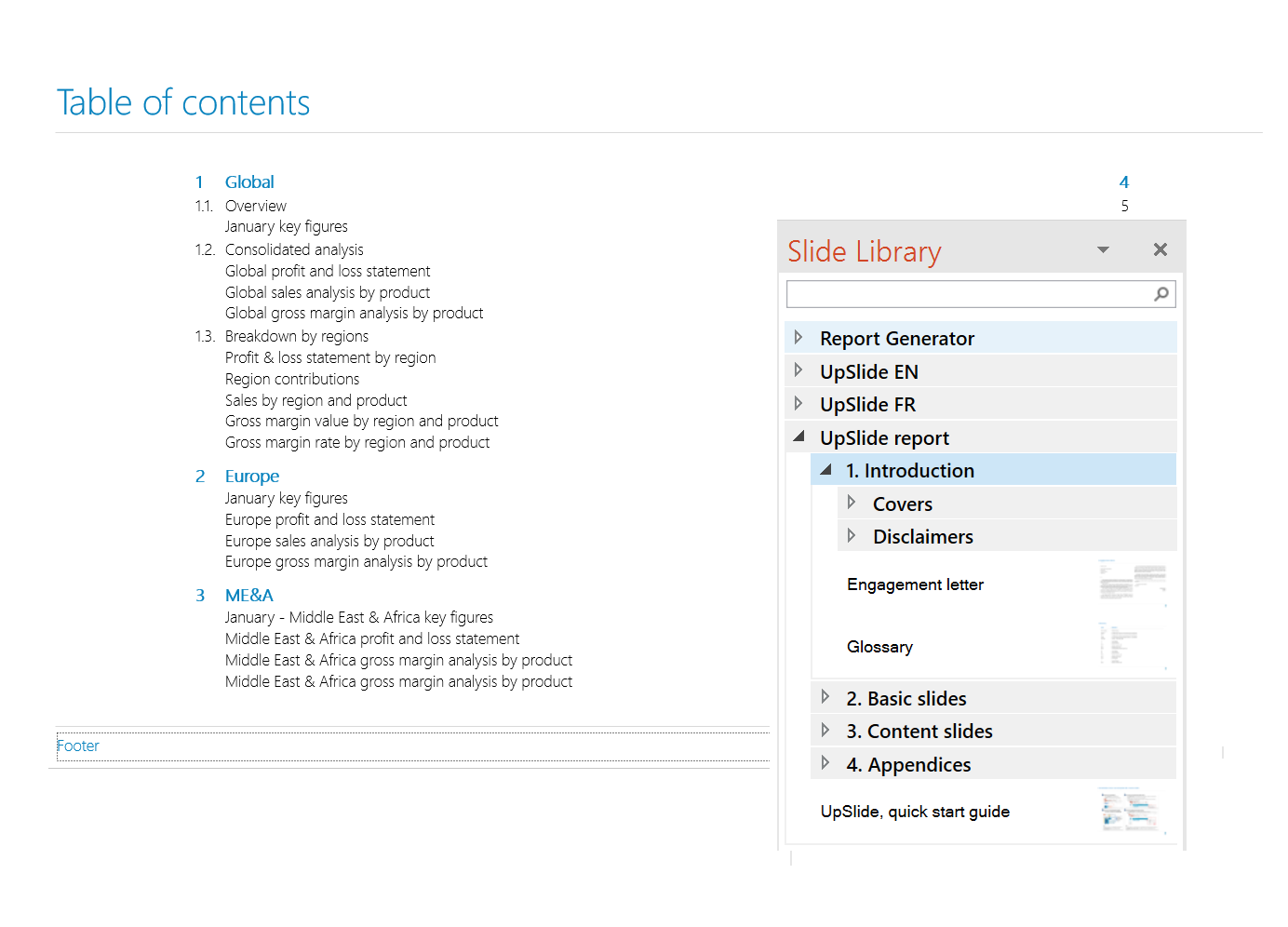 how to make table of contents in word 2016