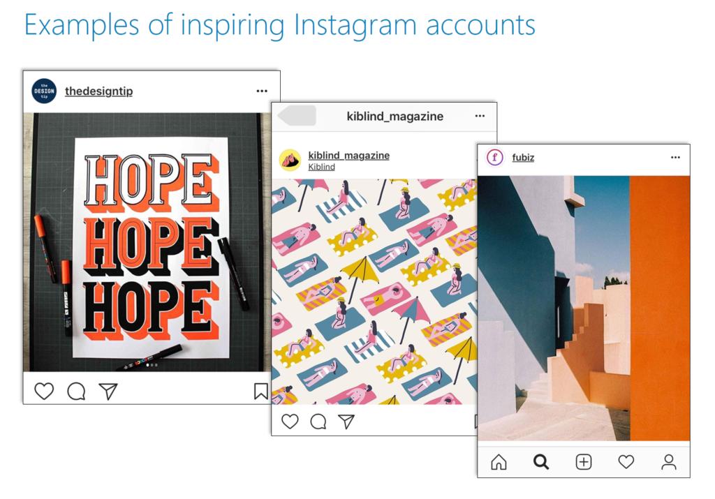 Instagram accounts for Designer