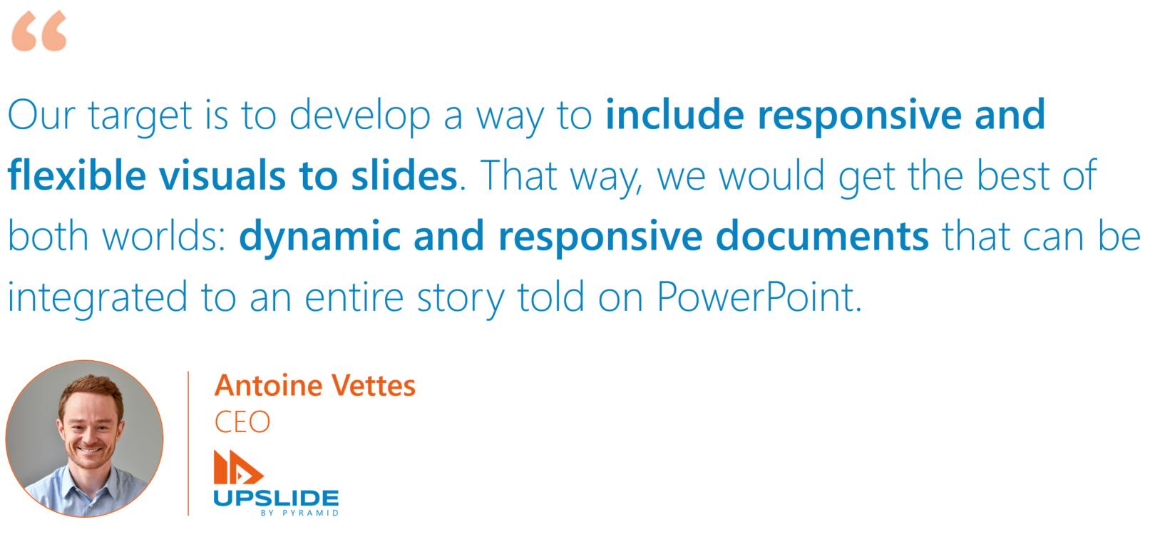 Antoine Vettes, CEO of UpSlide