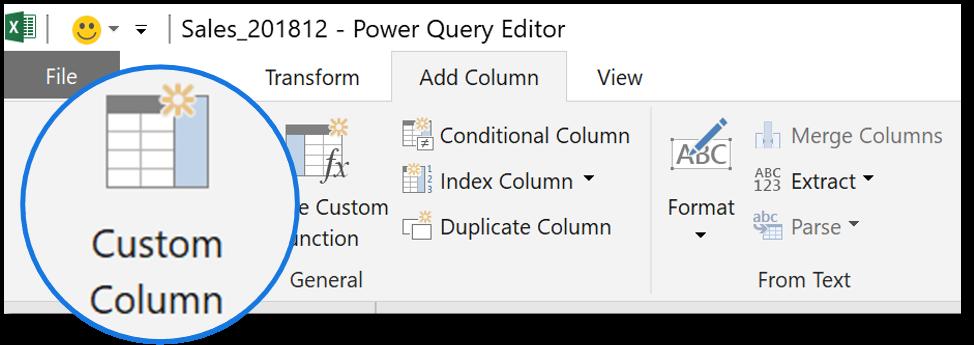 Power query custom column