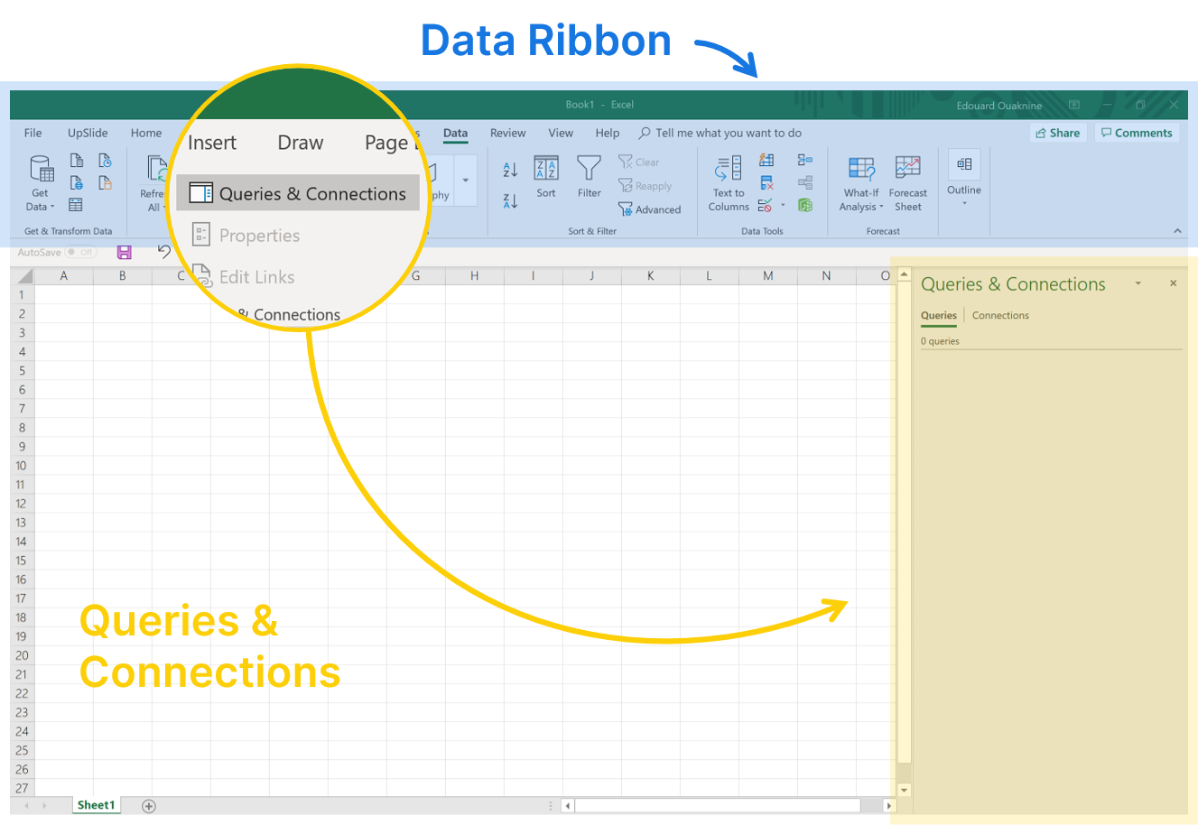 Power query Excel data ribbon