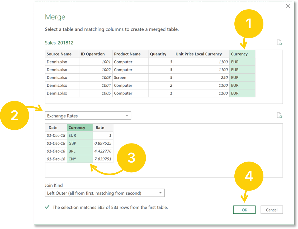 Power query merge queries steps