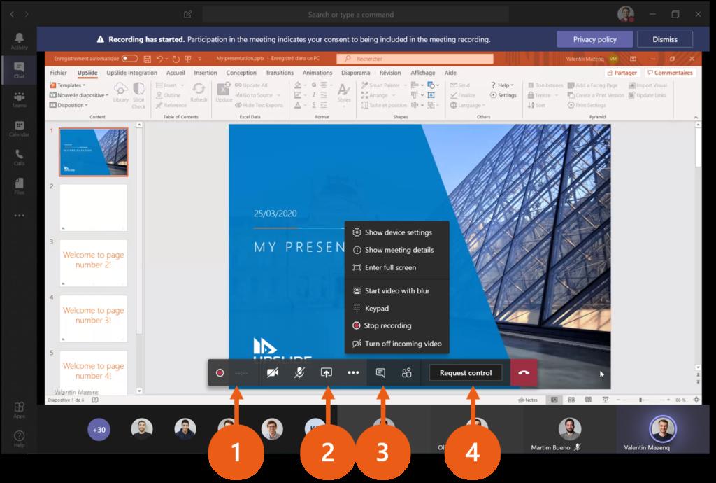 Presentation Microsoft Teams